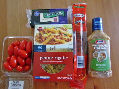 The Country Cook: Pepperoni Pizza Pasta Salad