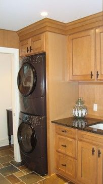 pictures of laundry room with stack washer | stacked washer and