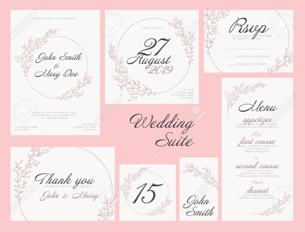 Modern Pink Wedding Suite Collection Card Templates With Pink Throughout Table Name Card Template Table Name Cards Place Card Template Card Templates Free
