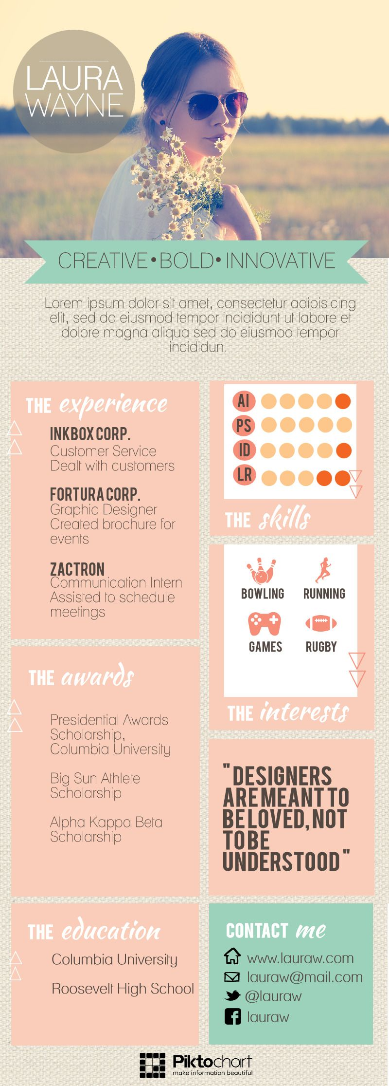 well designed resume can help you to stand out in the current job market piktochart new theme also rh pinterest