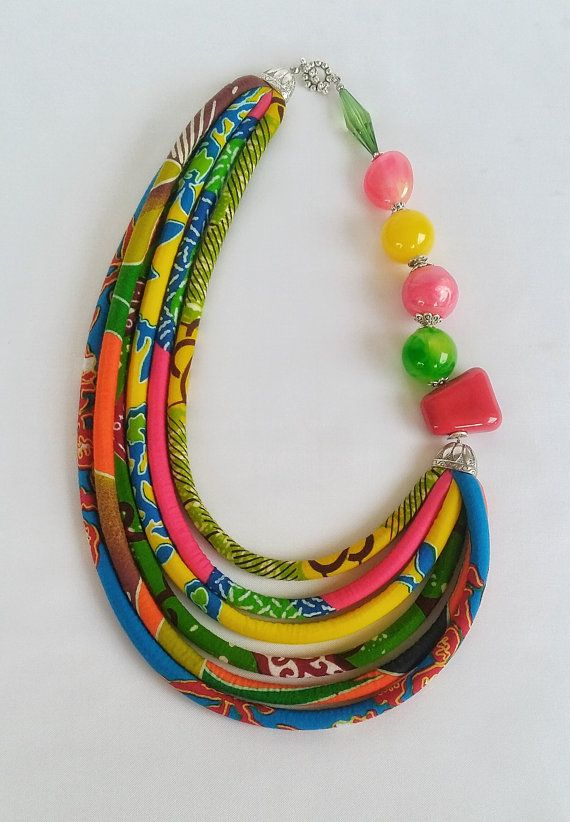 51e7405db289 Private Listing for B - Multicolour African Print Necklace ...