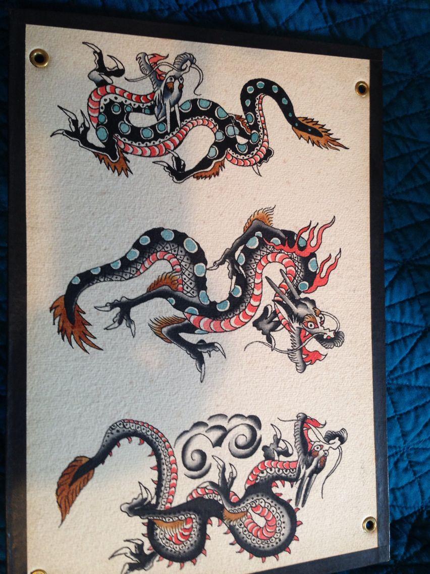 Dragon Tattoo Flash : dragon, tattoo, flash, Marquand, Tattoos, Dragon, Tattoo, Flash,, Vintage, Design,, Designs