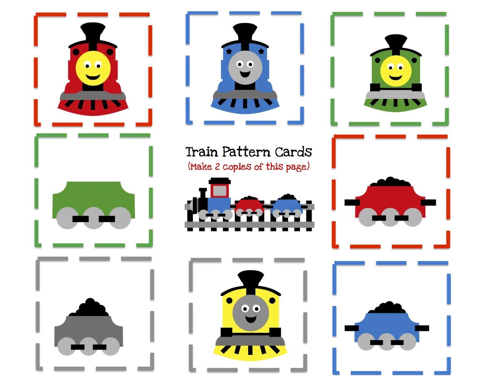 Duplo Pattern Preschool Building Cards