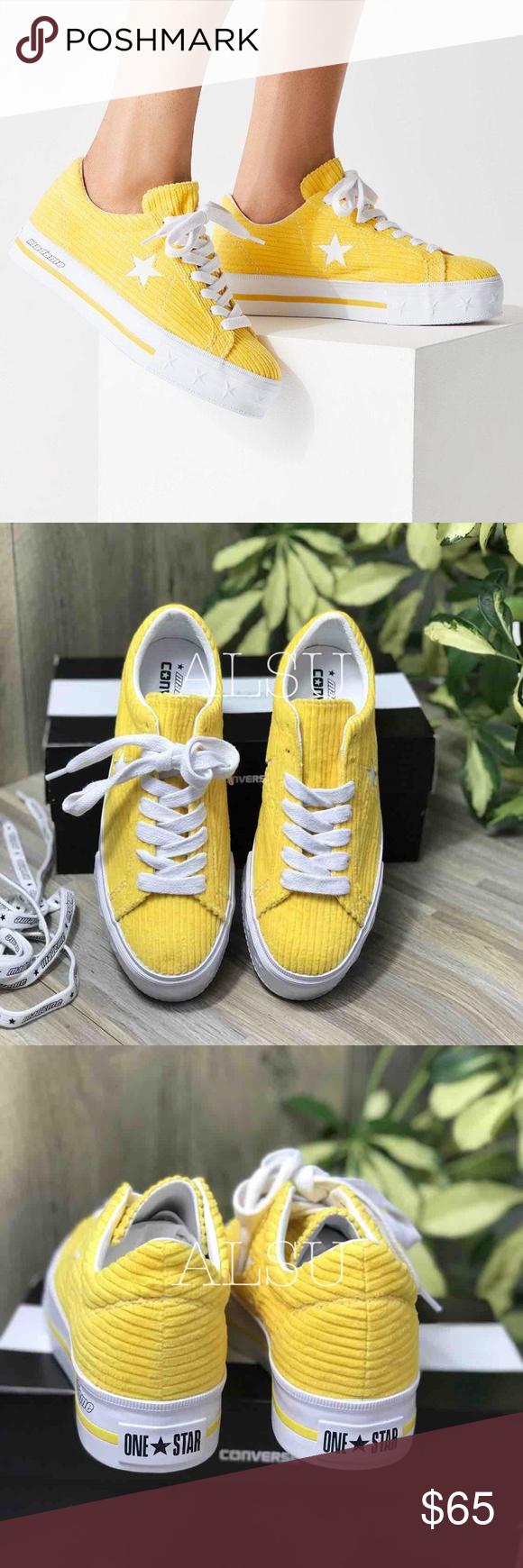 NWT Converse One Star Platform Ox Vibrant Yellow Brand new