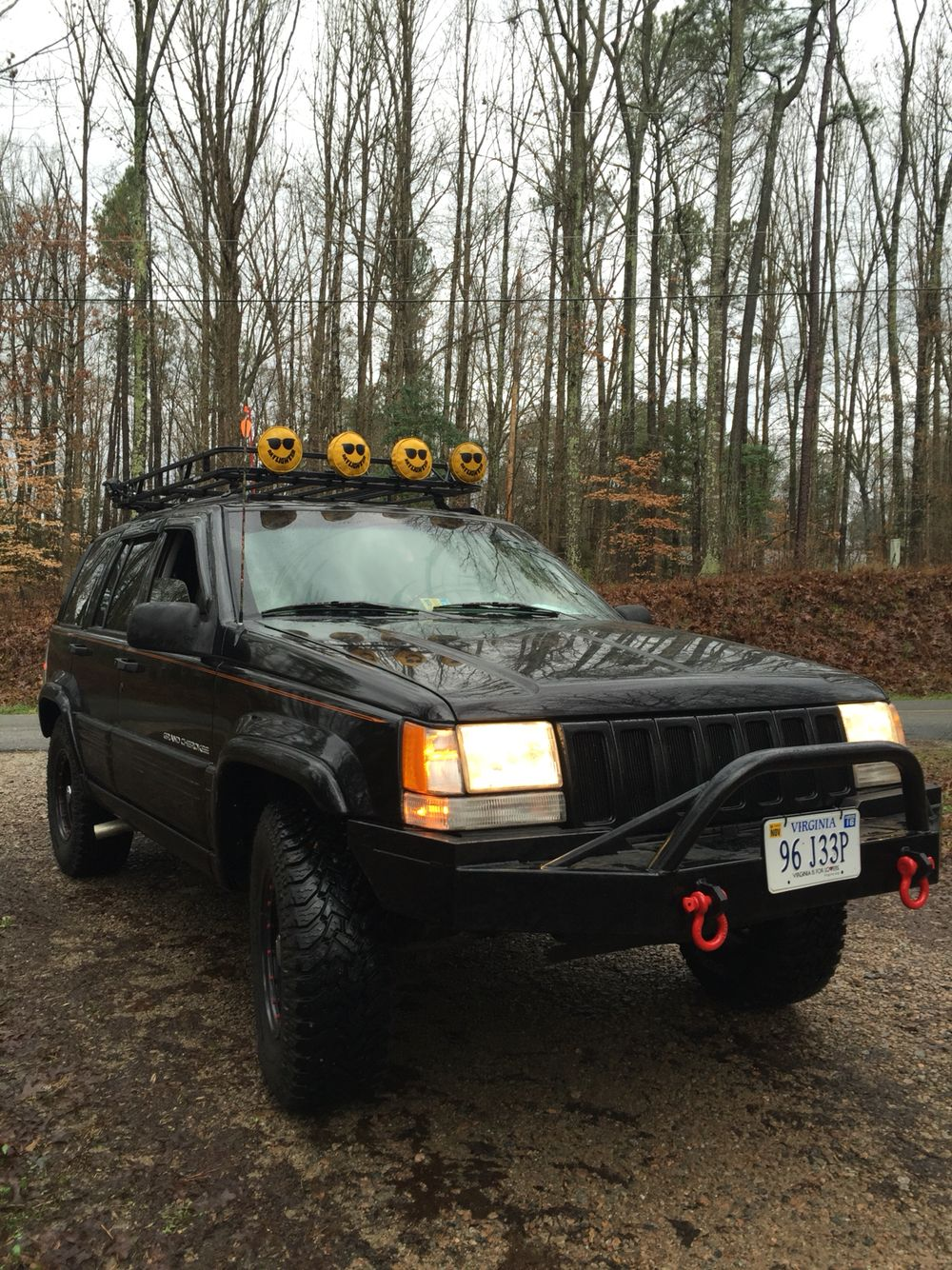 My 96 Jeep ZJ 4.0 with Nates4x4 front bumper and Garvin