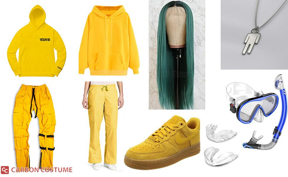Billie Eilish Yellow Outfit From Bad Guy Costume Yellow Outfit