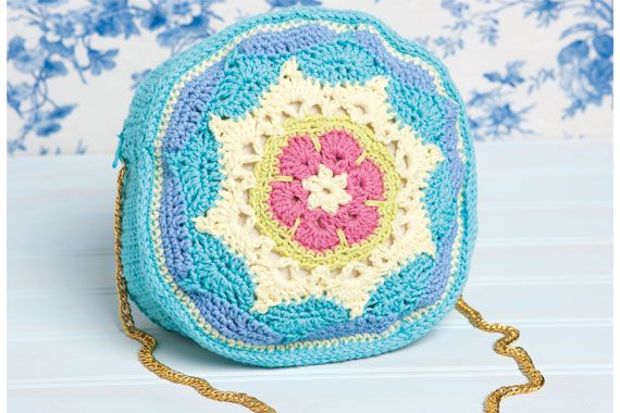 Bolso de mandalas a crochet