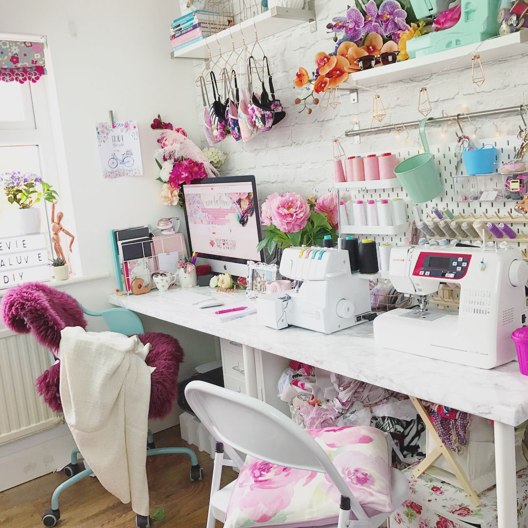 Desk Tables Homeoffice: Where You'll Find Me... #whereiwork #sewingspace