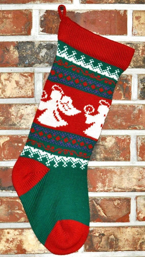 Knitpersonalizedchristmasstockingwoolbyangoravalley