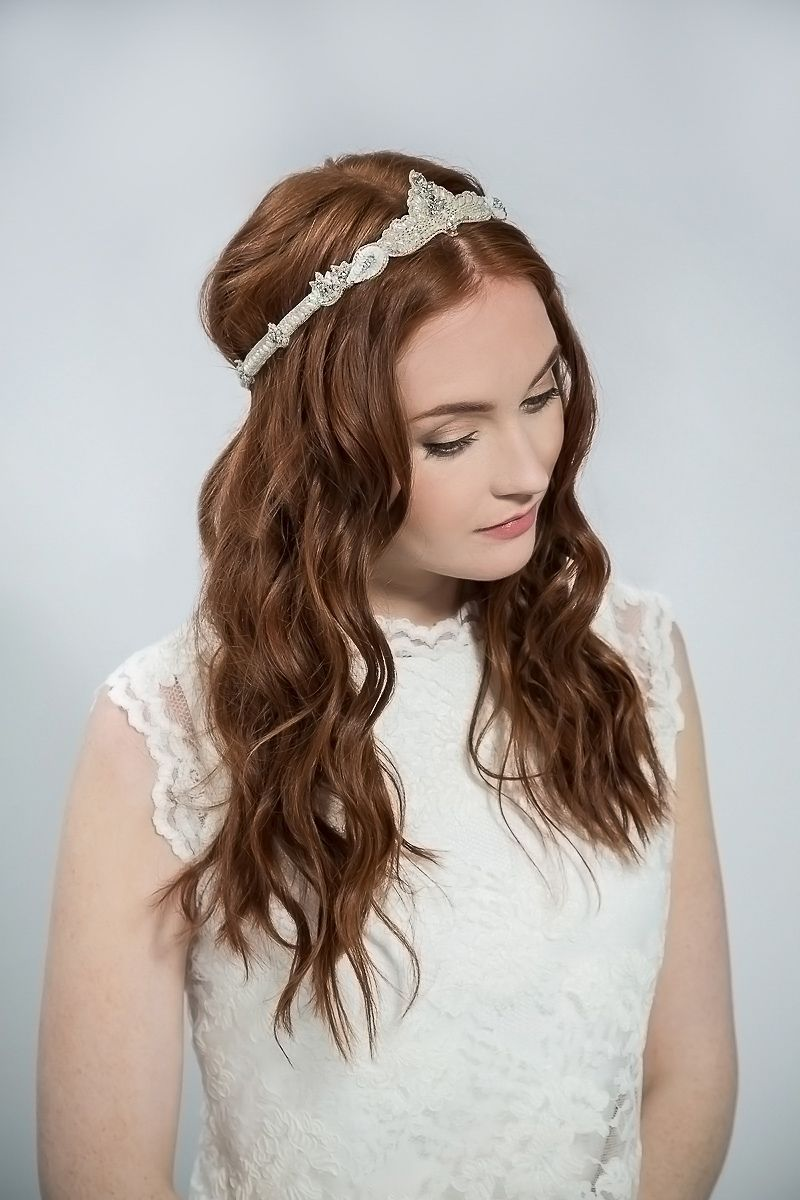 emmy london - elegant and ethereal wedding hair accessories | halo
