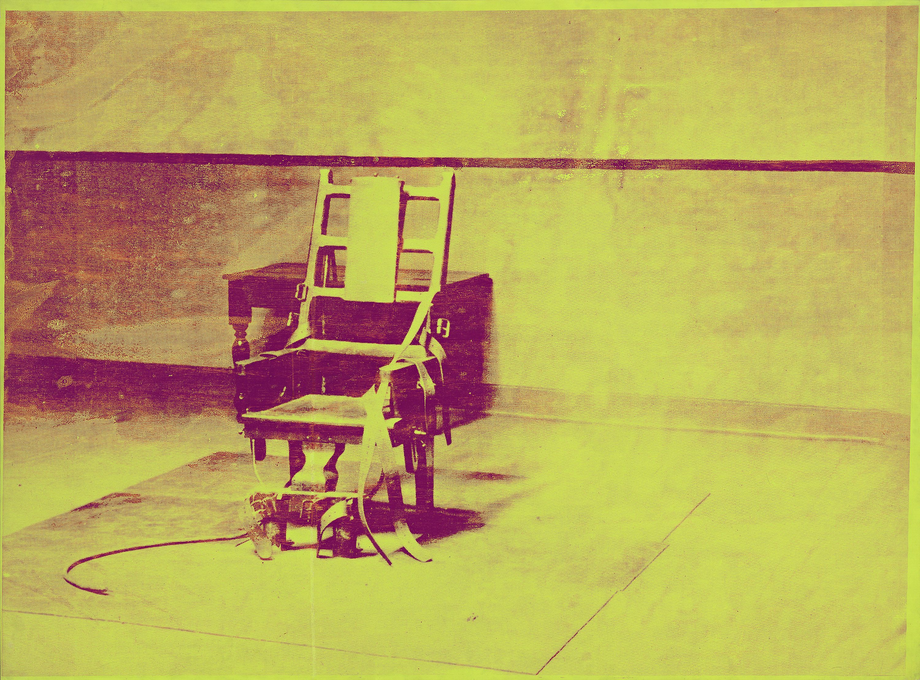 Andy Warhol Electric Chair 1967 synthetic polymer paint ...