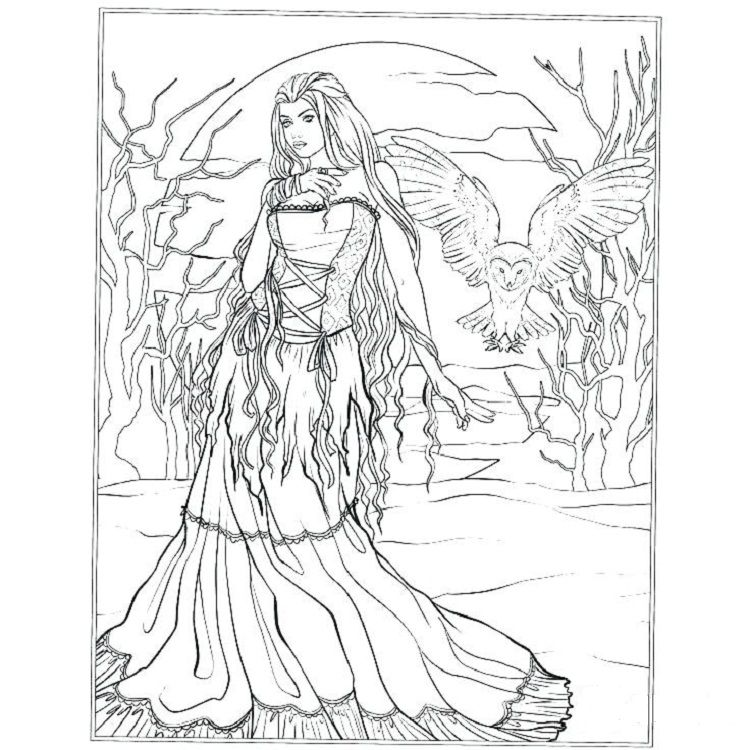Vampire Gothic Fairies Coloring Pages Witch Coloring Pages