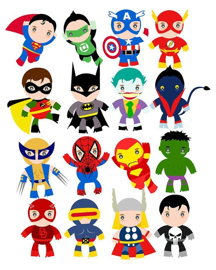 4 Letter Cartoon Characters : Free superhero party clipart decoration printables