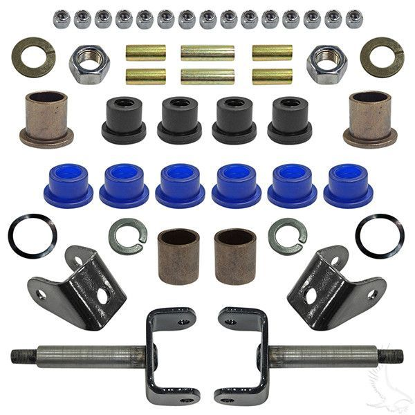 73a42e4df3a028c182546182d0abcbdd club car ds golf cart front end repair rebuild kit golf carts club car golf cart front suspension diagram at aneh.co