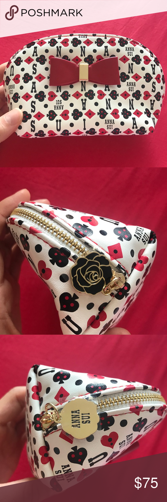 Anna Sui cosmetic bag ♠️♥️ NWT Anna sui bags, Cosmetic