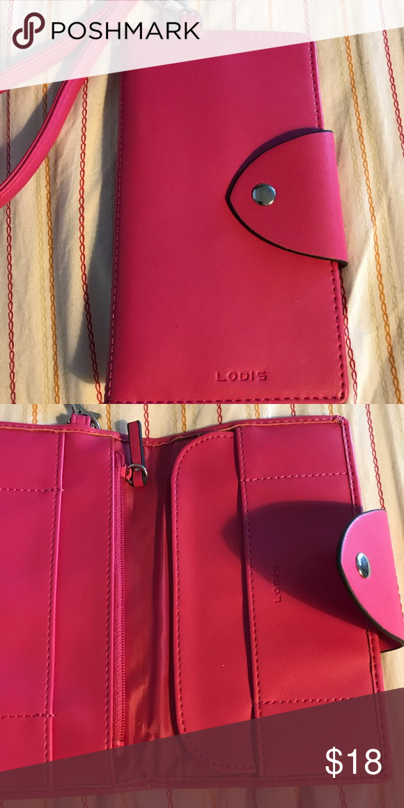 Lodis Hot Pink Leather Phone Case NWOT Hot Pink Leather by Lodis Lodis Bags Wallets