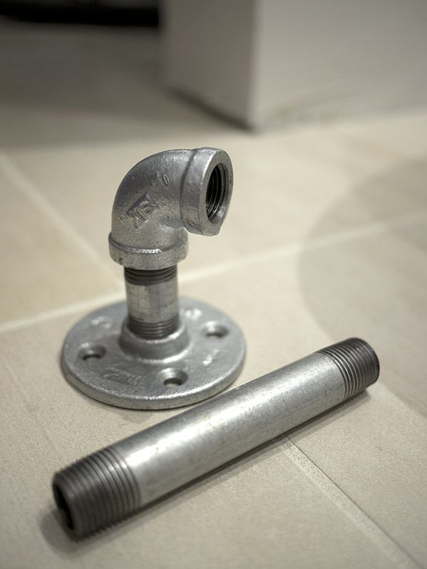 Were So Doing The Industrial Theme In The Man Cave Bathroom Home - Industrial bathroom hardware