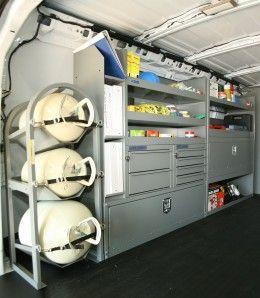 Hvac Work Van Storage Accessories