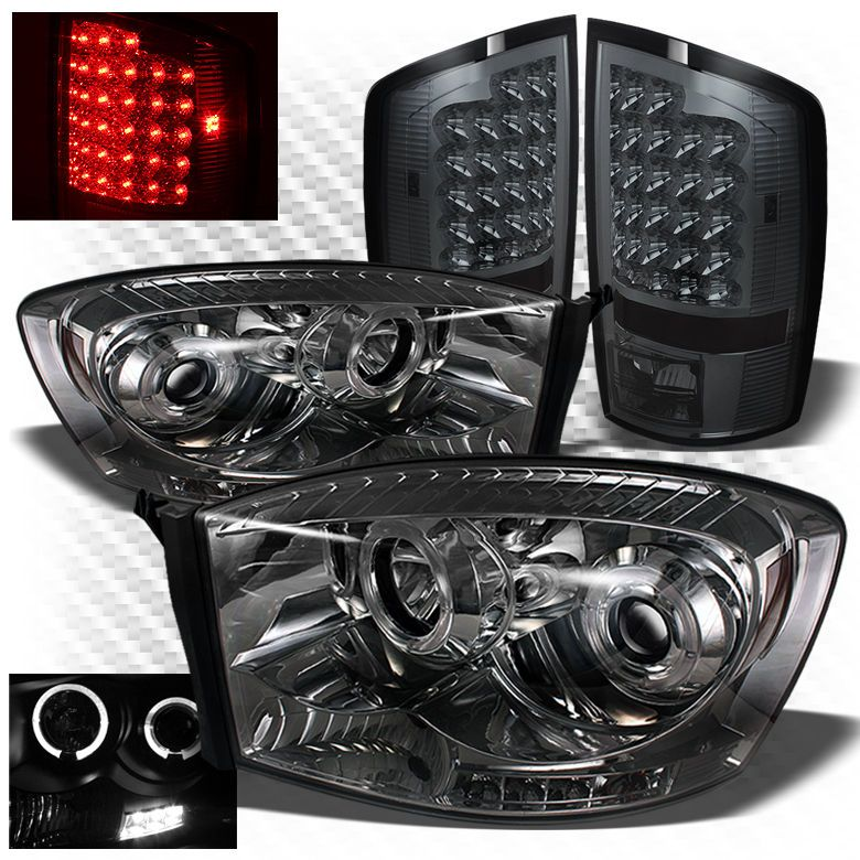 For 07 08 Ram 1500 07 09 2 3500 Smoked Pro Headlights Led Tail Lights Ram 1500 Led Tail Lights Ram