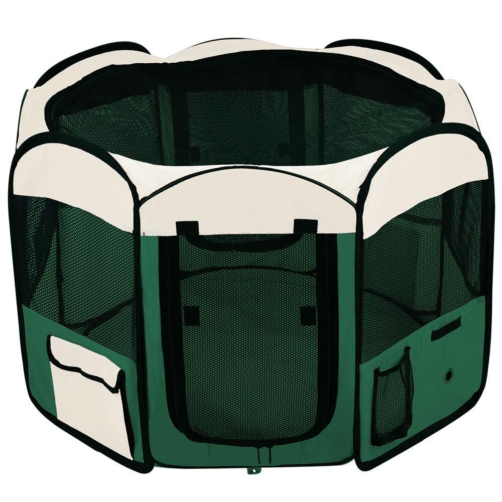 48 Quot Soft Sided Octagon Playpen Portable Pen Green