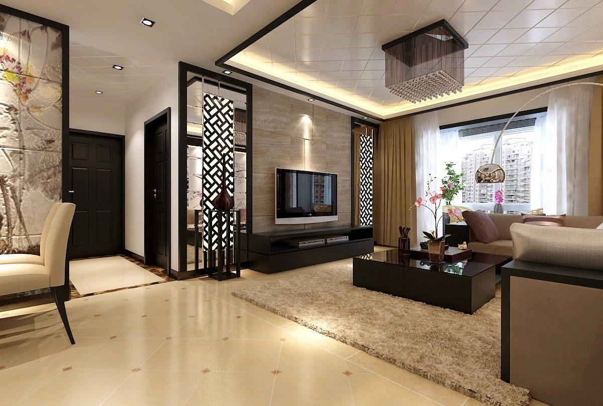 Elegant modern living room meet chinese style decor ideas with light wood color scheme and chinese