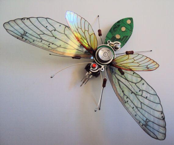 The Large Organic Forms Circuit Board Bug by DewLeaf on Etsy