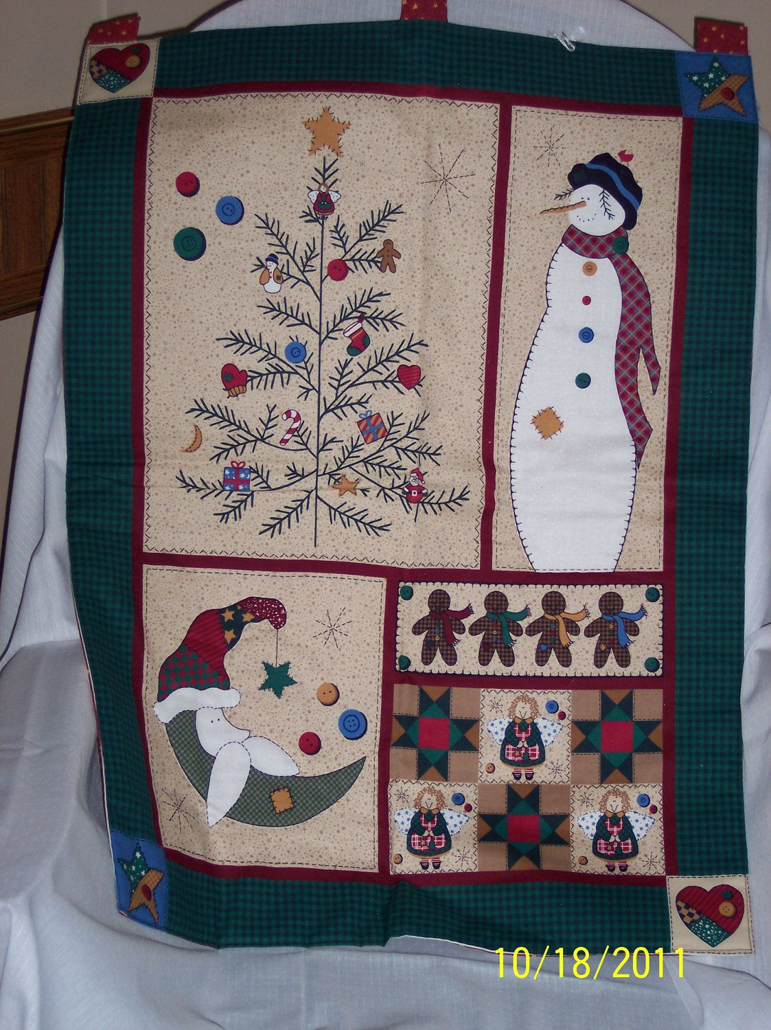 Quilted Country Winter Wall Hanging Patchwork De Pared