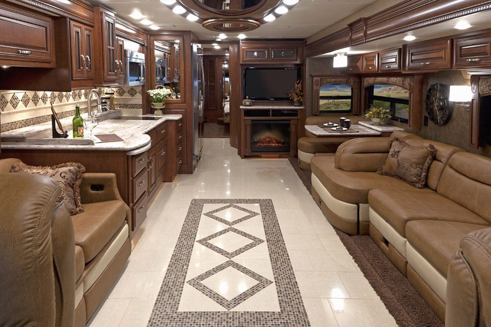 Motorhome Rv Trailer Interiors 2 Luxury Rv Living Trailer