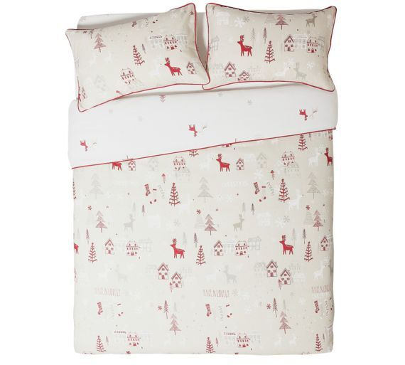 Buy Collection Nordic Christmas Bedding Set - Single at Argos.co ...