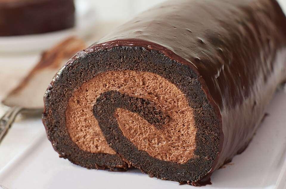 Chocolate Cream Roll King Arthur Flour In 2020 Chocolate Cream Baking Cream Roll Recipe