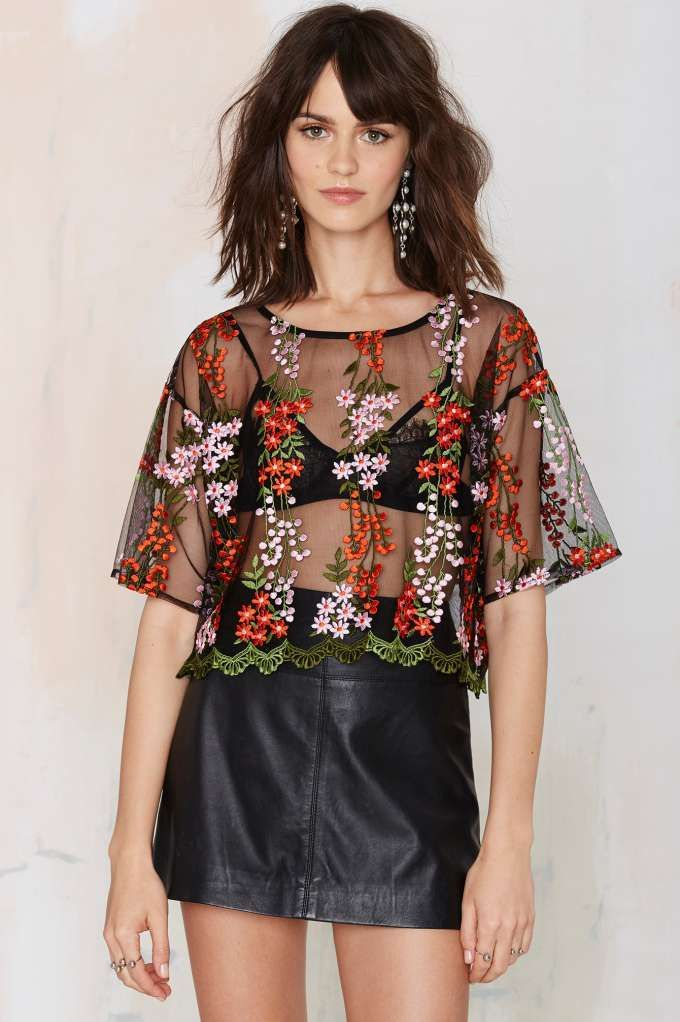 Glamorous Flower Powers Embroidered Top  6eae56effd48