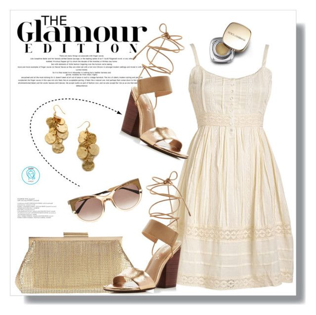 """""""Saturday Glamour"""" by queenvirgo ❤ liked on Polyvore featuring Whiting & Davis, Splendid, Thierry Lasry, Kenneth Jay Lane and Dolce&Gabbana"""