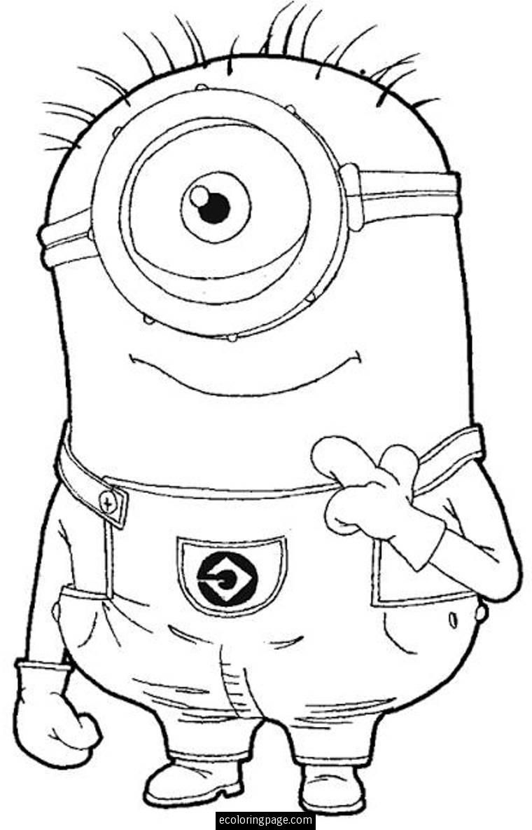 Despicable Me One Eye Minion Coloring Page For Kids Printable Kids