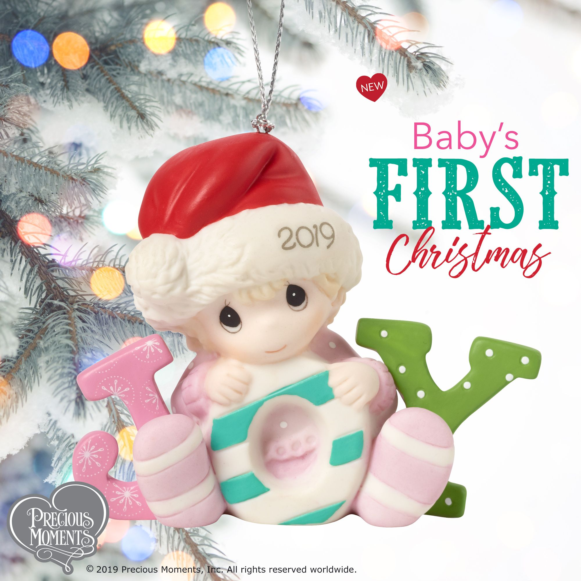 Baby S First Christmas 2019 Dated Porcelain Ornament Girl Thoughtful Christmas Gifts First Christmas Ornament Gift Bows