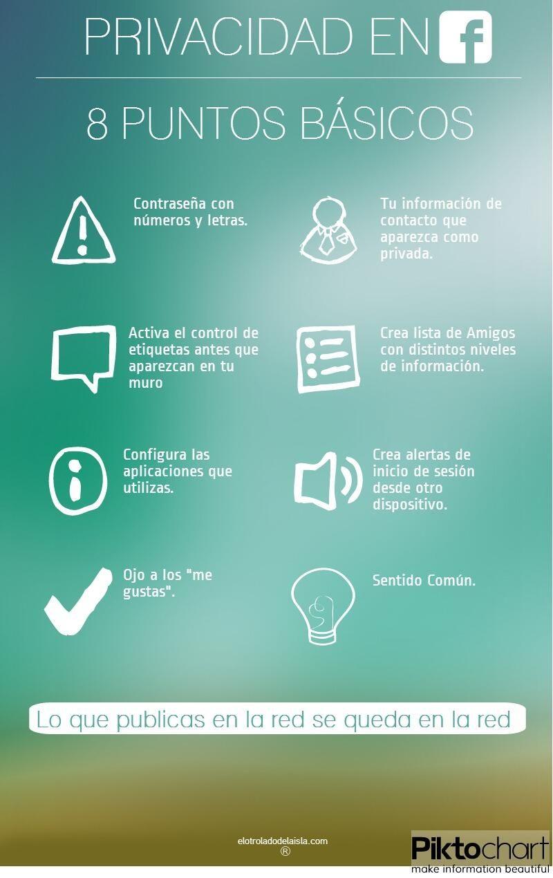 8 puntos básicos de la privacidad en FaceBook #infografia #infographic #socialmedia