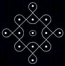 5 1 parallel dots neer pulli kolam start with 5 dots in the