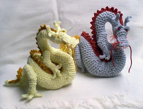 Asian Dragon amigurumi pattern by Christina Powers | Drachen häkeln ...