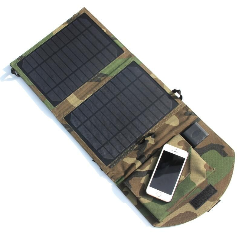 10w Portable Solar Panel Charger Solar Cell Charger For Mobile Phones Power Bank Dual Usb Output Camouflage Solar Panel Charger Portable Solar Panels Dual Usb