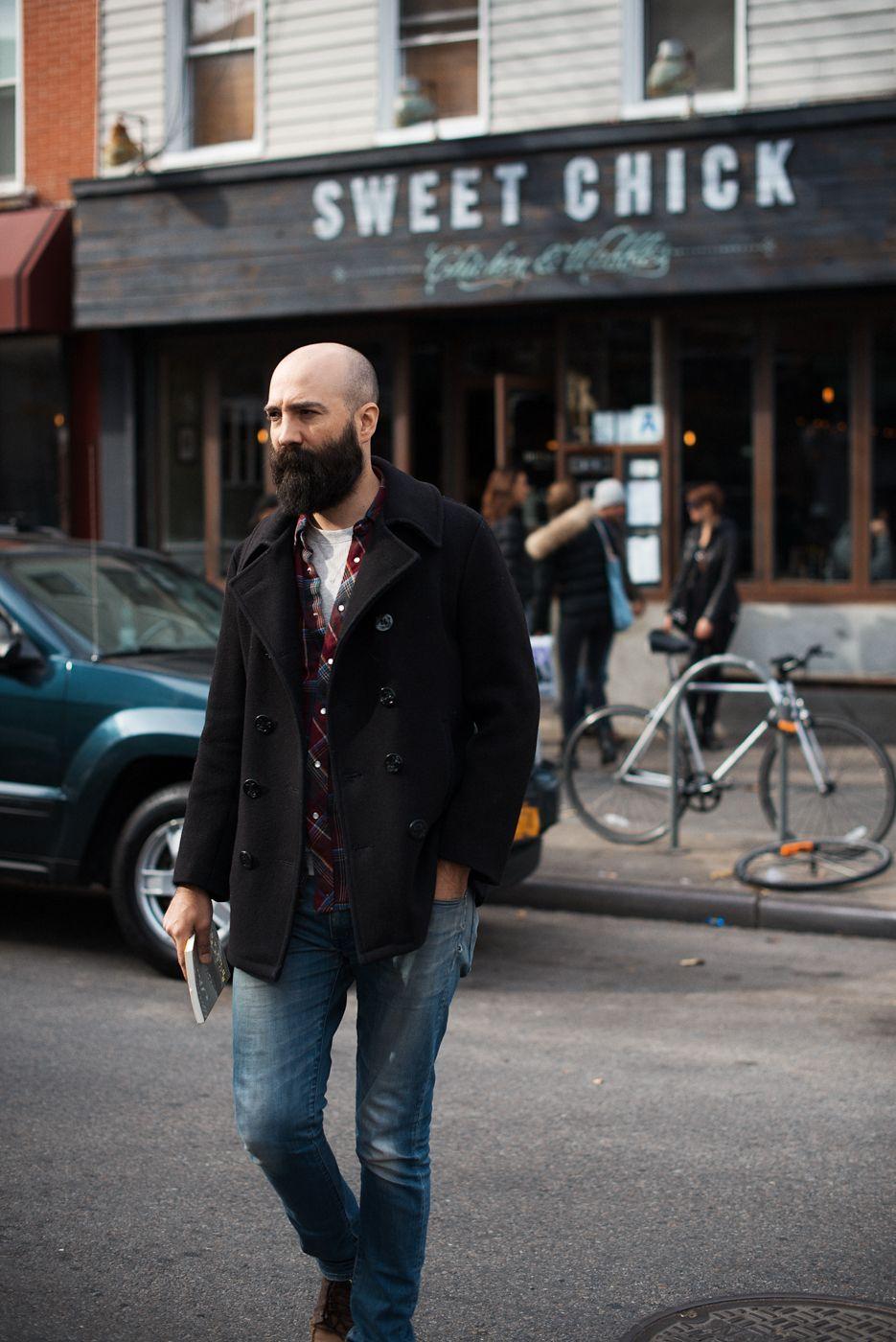 #streetstyle #bald Bearded : Bald Men of Style