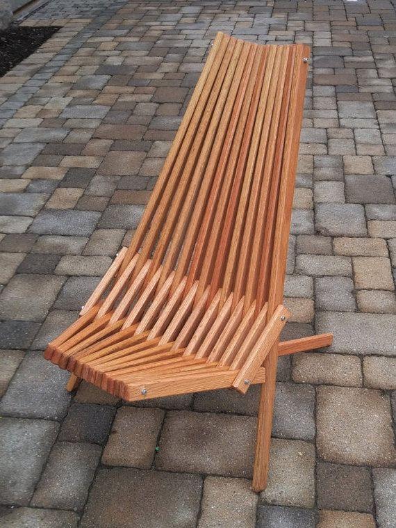 Oak chair natural danish oil finish folding patio for Sillas para planos