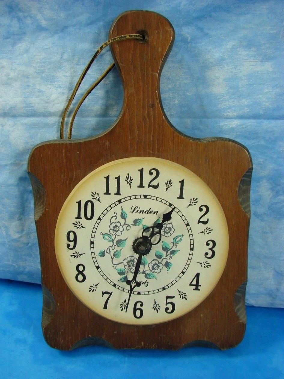 Kitchen Wall Clock Decor Ideas decoration vintage wood cutting board wall clock unque and