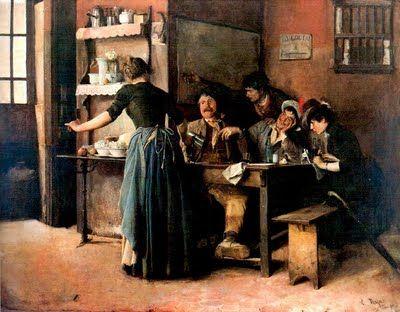 La Taberna Cristobal Rojas 1858 1890 Venezolano Pintores