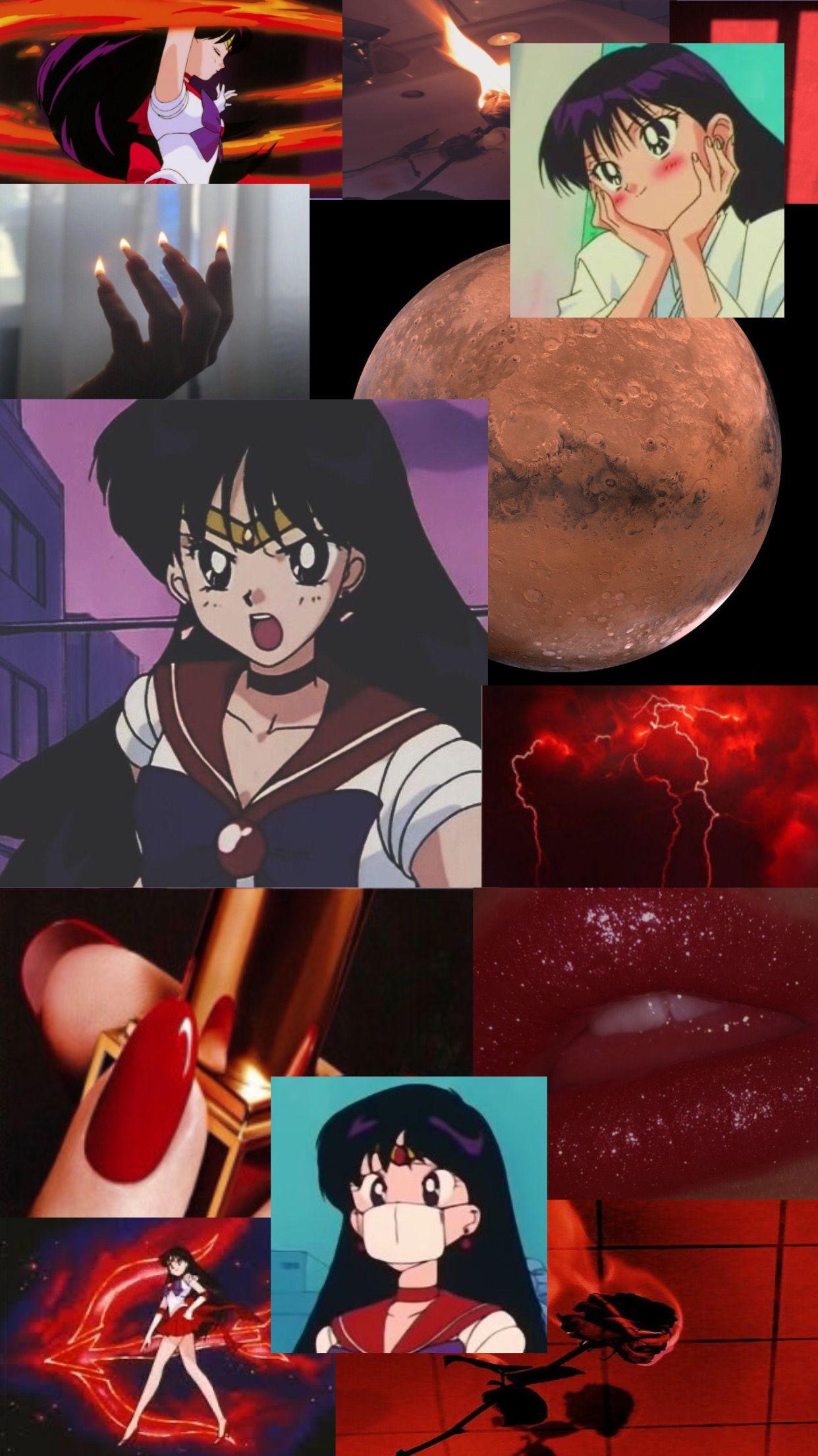 Sailor Mars Aesthetic Wallpaper Sailor Moon Sailor Moon Aesthetic Sailor Mars Sailor Moon