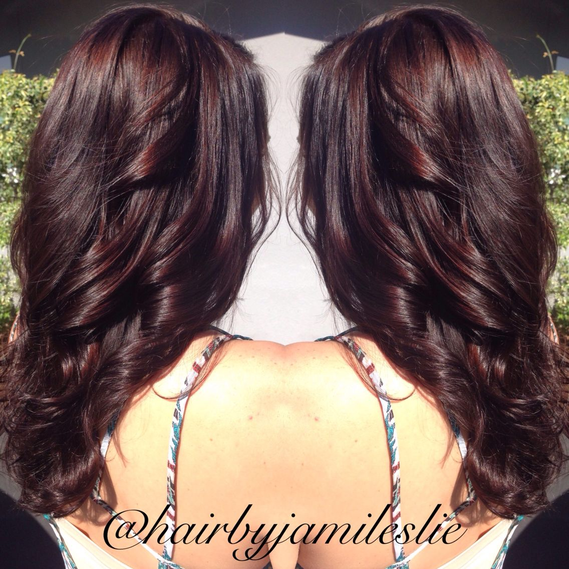Gorgeous Rich Mahogany Golden Brown With Long Layers Hair