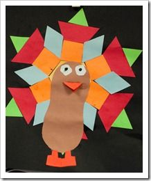 pattern block turkeys: Great activity to do for math during the month of November