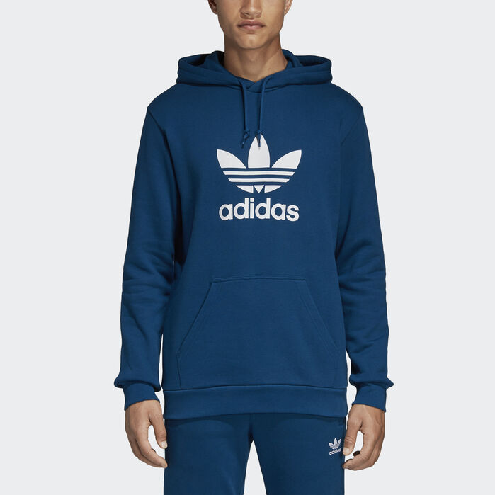 Trefoil Hoodie Grey Mens In 2020 Adidas Originals Tops Mens Sweatshirts Adidas Originals Mens