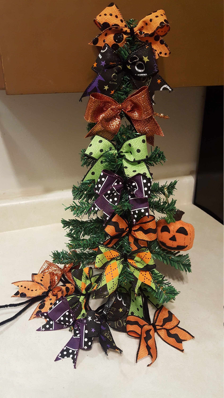 Halloween decor bows set of 14 bows christmas tree