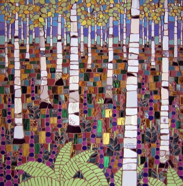 Michael Sweere - mosaics from recycled material