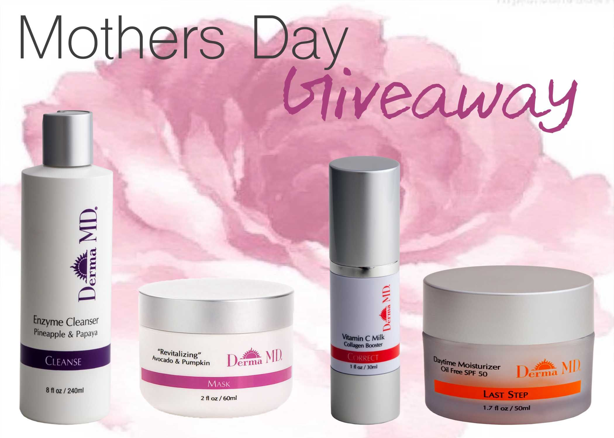 Enter to win one of 3 Skincare kits of our favorite products for all the Mom's out there! Valued at $270- Enter from our Facebook page. Follow Link