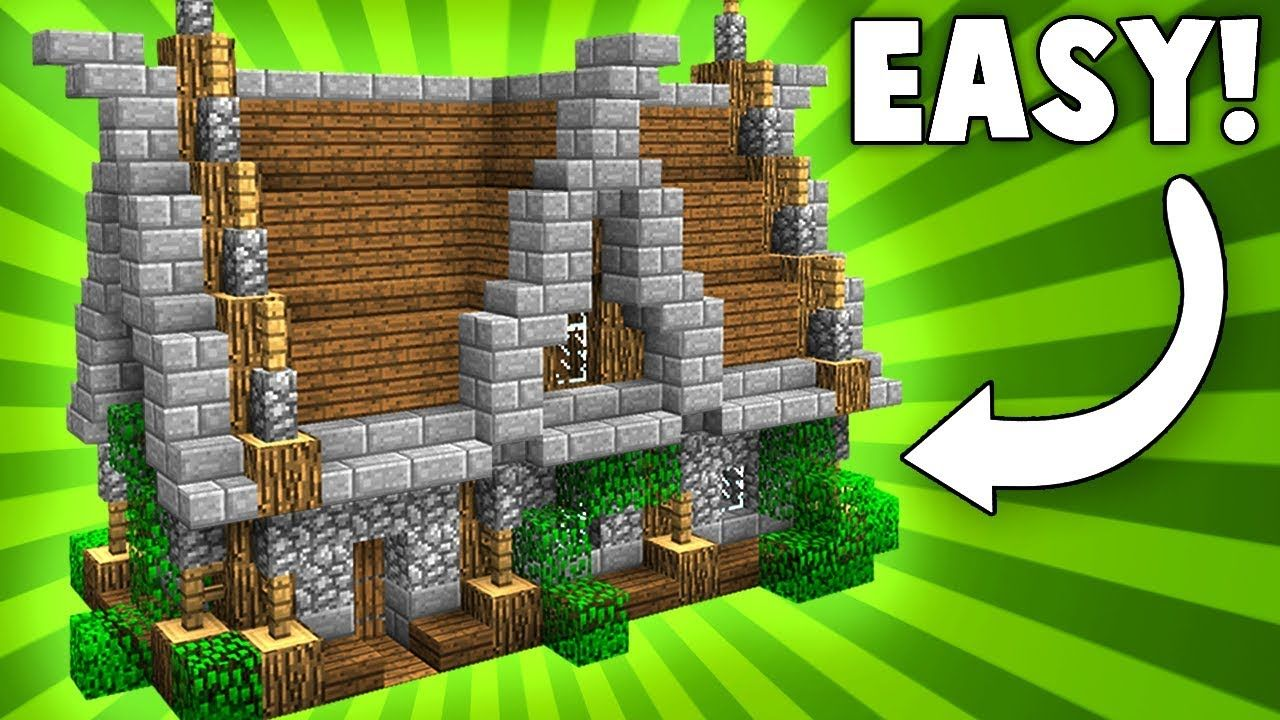 Stylish Compact Medieval House Minecraft Tutorial